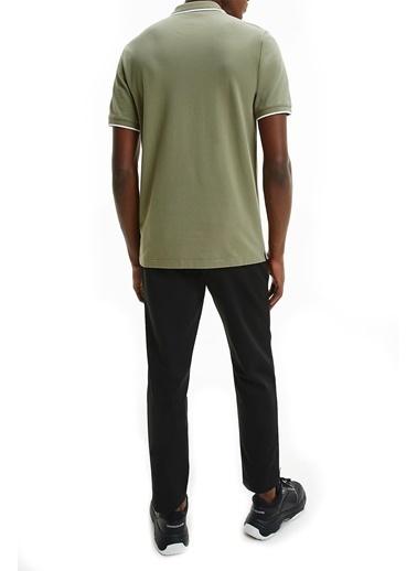 Calvin Klein  Pamuklu Slim Fit Polo T Shirt Erkek Polo K10K107211 Mss Yeşil